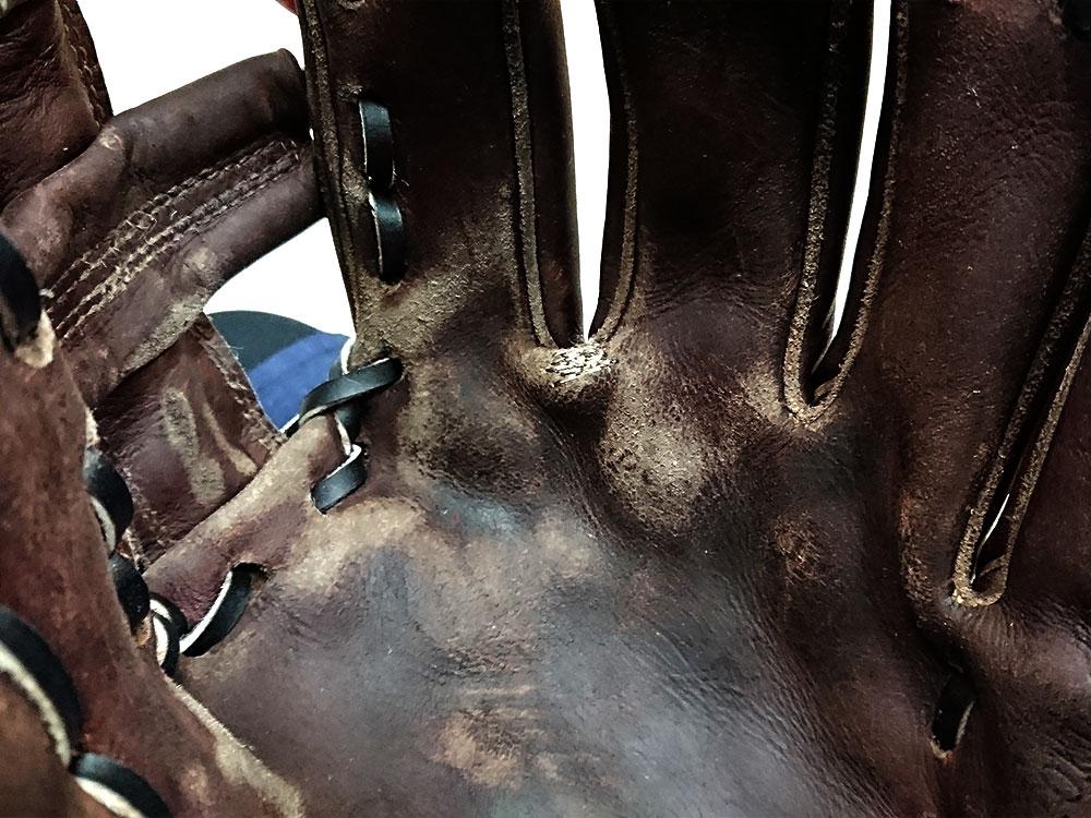 野球グローブの修理 指股5
