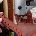 グラブの破れ修理 指股